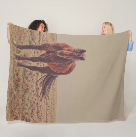 Rust and Prairie Wise Fleece Blanket