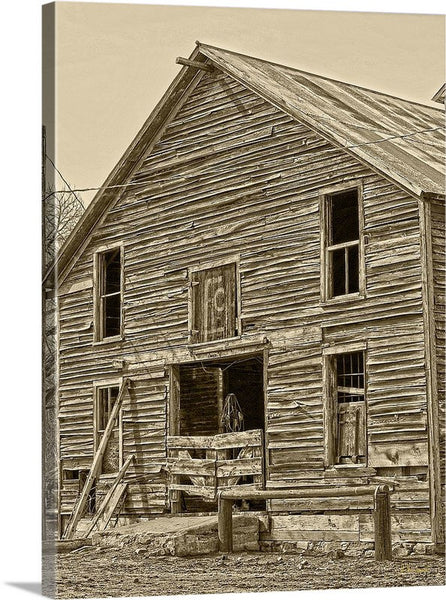 Rustic Barn of Old Canvas Print