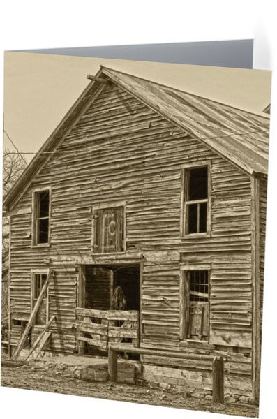 Rustic Barn of Old Note Cards and Greeting Cards (12 Pack)