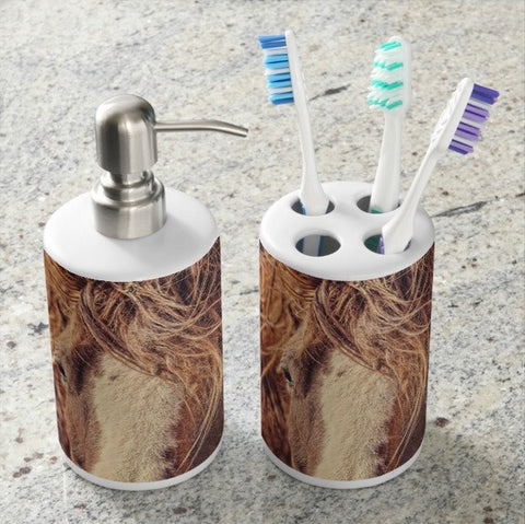 Rustic Eyes Bathroom Set