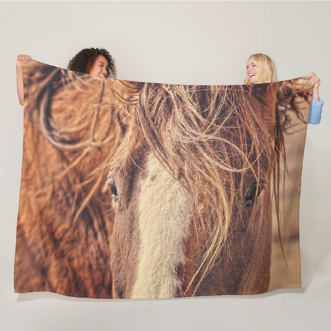 Rustic Eyes Fleece Blanket