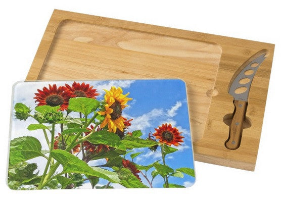 Rustic Sunflowers Cheese Board