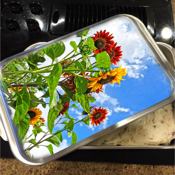 Rustic Sunflowers Cake Pan with Lid