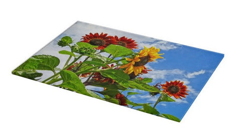 Rustic Sunflowers Cutting Board