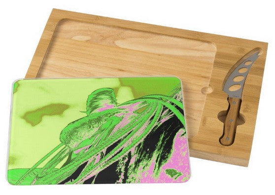 Saddle Electric Pink Cheese Board