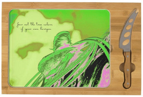 Saddle Electric Pink Quote Cheese Board