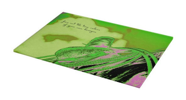 Saddle Electric Pink Quote Cutting Board