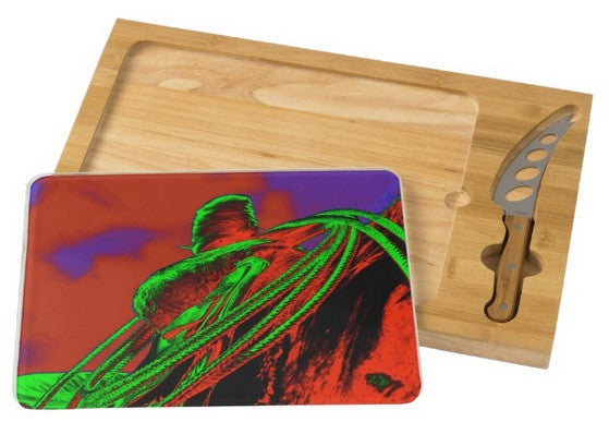 Saddle Electric Red Cheese Board