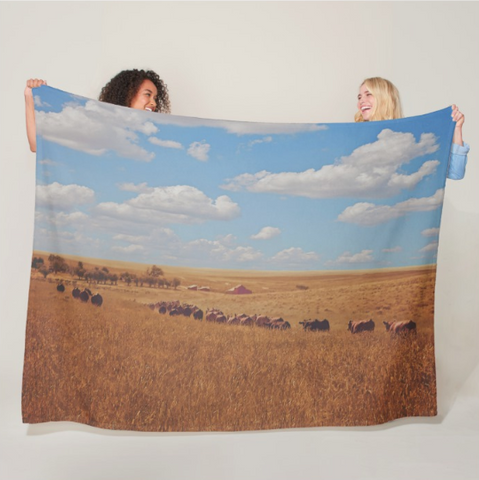 Sarah's View Fleece Blanket