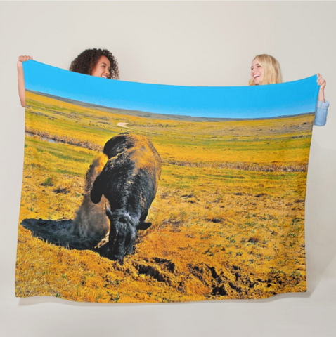 Saturated Sand Wave Fleece Blanket