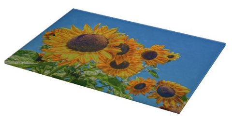 Sun and Flower Conversation Cutting Board