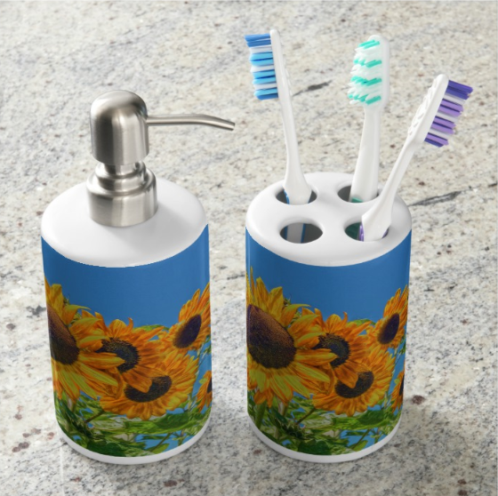 Sun and Flower Conversation Bathroom Set