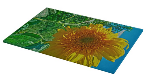 Candy Tuft Sunflower Cutting Board