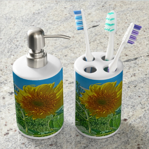 Candy Tuft Sunflower Bathroom Set