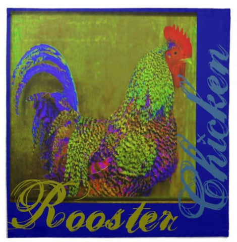 Set of 4 Rooster Cloth Napkins