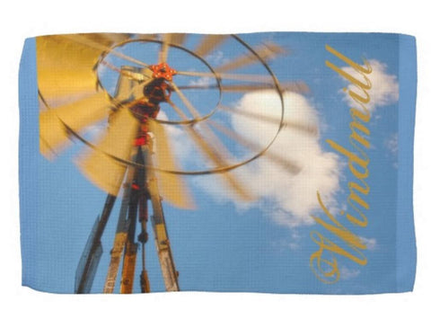Wyoming Windmill Kitchen Towel
