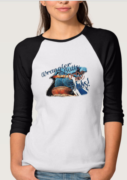 Amanda Smith Wyoming Photography T-Shirt Wrangler Butts
