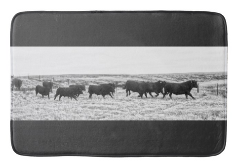 Bulls on the Run Bath Mat
