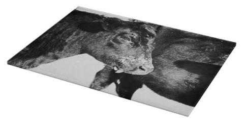 Black And White On Angus Cutting Board