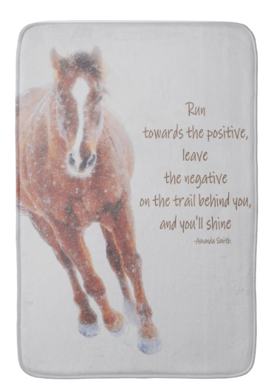 Positively Sundancing Inspirational Bath Mat