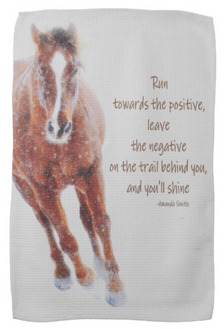 Positively Sundancing Inspirational Kitchen Towel
