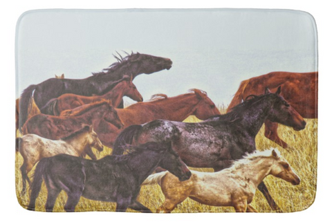 Spirit Races on the Prairie Bath Mat