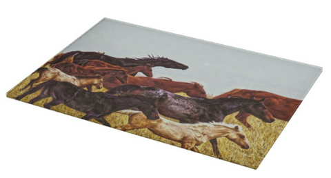 Spirit Races on the Prairie Cutting Board