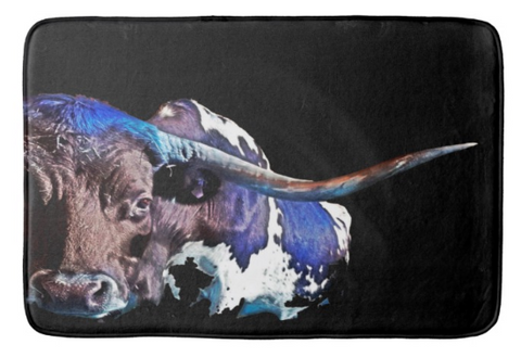 Texas in the Moonlight Bath Mat