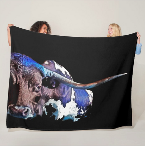 Texas in the Moonlight Fleece Blanket