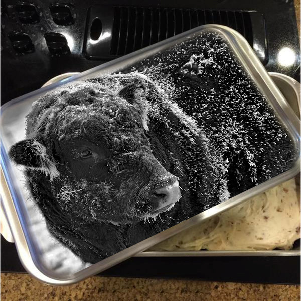 Snow Covered Ice Bull Cake Pan with Lid