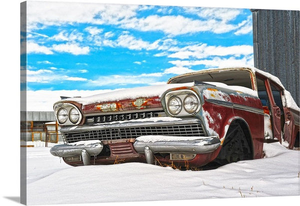 Snow on the Ambassador Canvas Print