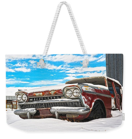 Snow on the Ambassador Weekender Tote bag