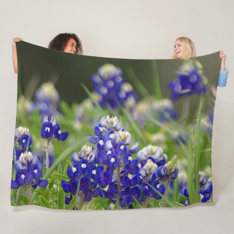 Springtime in Blue Fleece Blanket