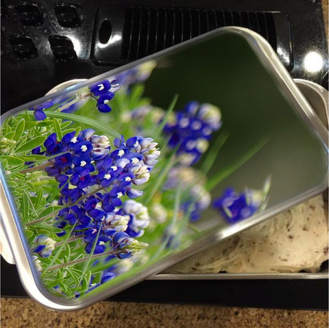 Springtime in Blue Cake Pan with Lid