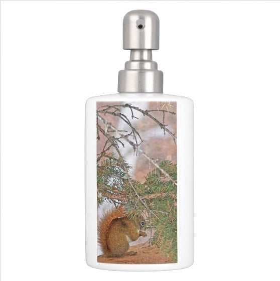Squirrel, Pine Tree and a Nut Bathroom Set