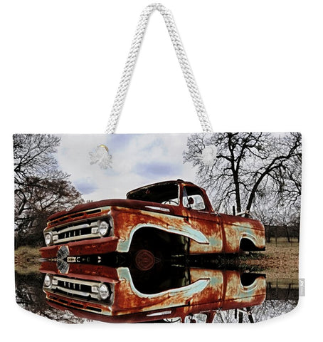 Parked on the Edge of Time Weekender Tote bag