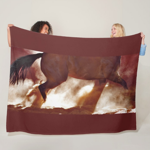 Stop and Turn Fleece Blanket