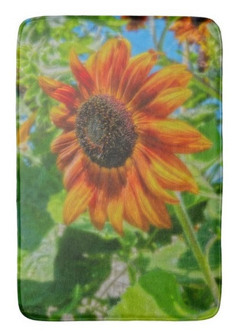 Sun Shower Sunflower Bath Mat