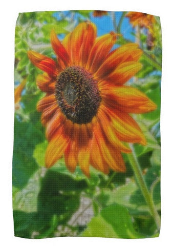 Sun Shower Sunflower Kitchen Towel