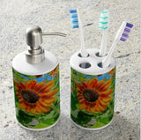 Sun Shower Sunflower Bathroom Set