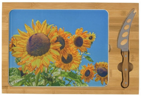 Sun and Flower Conversation Cheese Board