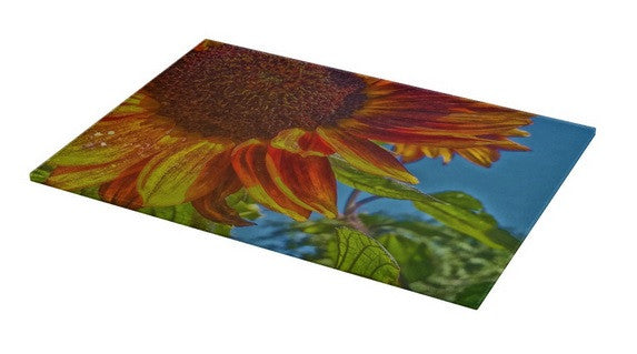 Sunflower Bonnet Cutting Board