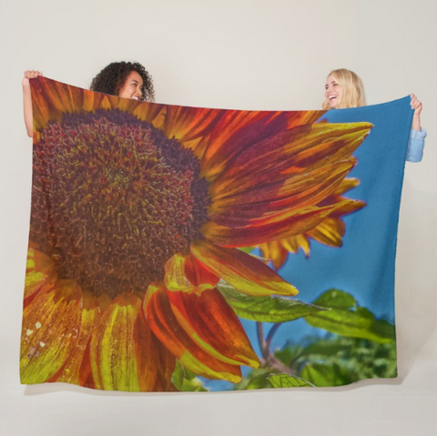 Sunflower Bonnet Fleece Blanket