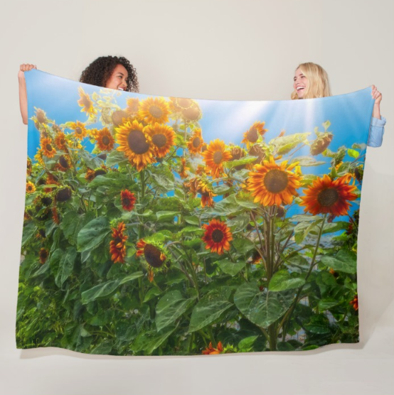 Sunflower Pack Fleece Blanket