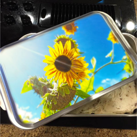 Sunflower and Sunlight Cake Pan with Lid