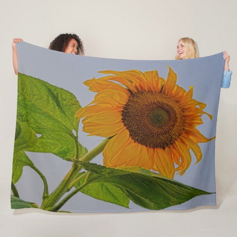 Sunflower Wild Fleece Blanket