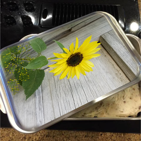 Sunflower and Dill Cake Pan with Lid