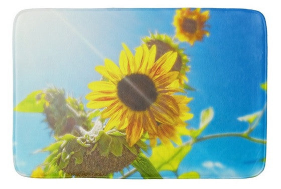 Sunflower and Sunlight Bath Mat
