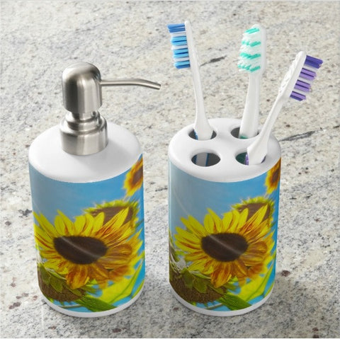 Sunflower and Sunlight Bathroom Set