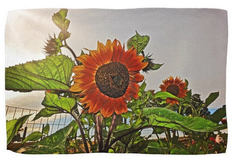 Sunflowers and Storm Kitchen Towel
